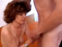 Mature pussy loving youngster fucks a tight old whore really hard